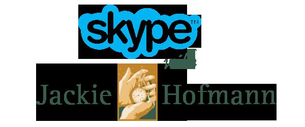 Skype with Jackie Hofmann